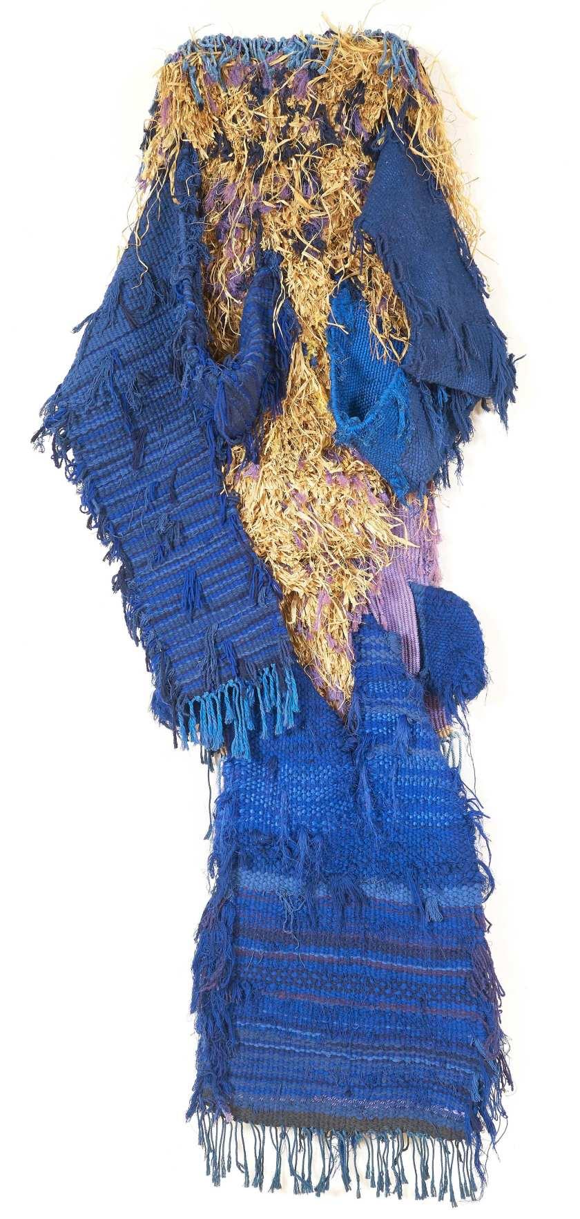 J. Grau Garrriga Blue Personnage, Cotton, wool and raffia  200x80 cm 1992.JPG